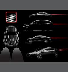 car lines vector image
