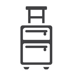 luggage solid icon travel and tourism vector image vector image