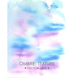 Ombre watercolor violet Hand drawn ombre texture vector image vector image