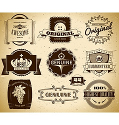 Vintage labels Collection 22 vector image vector image