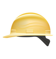 yellow safety hard hat isolated on a white vector image vector image