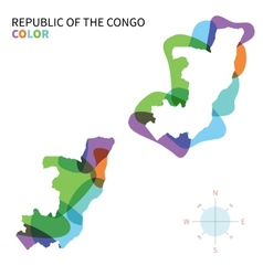 Abstract color map of Republic the Congo vector image