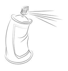 cartoon image of aerosol vector image