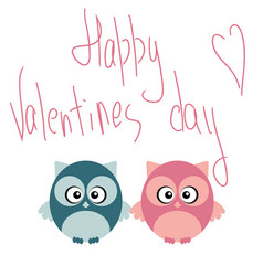 cute romantic owl in love on valentine day vector image