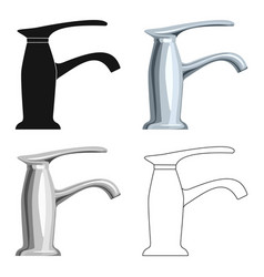faucet icon in cartoon style isolated on white vector image vector image