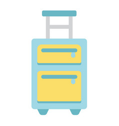 luggage flat icon travel and tourism vector image