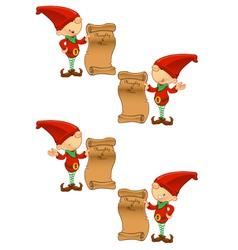Red elf naughty nice list vector
