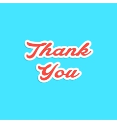 red inscription thank you sticker vector image vector image