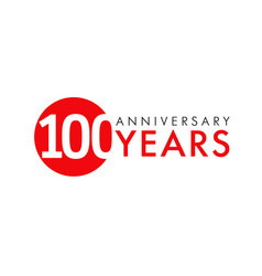 100 years logo concept vector image