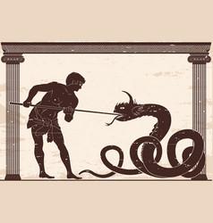 Ancient greek warrior vector