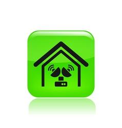 antenna home icon vector image vector image