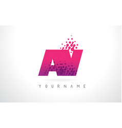 Av a v letter logo with pink purple color and vector