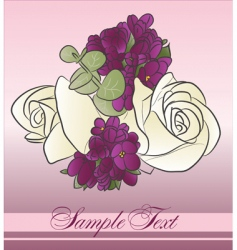 beautiful bouquet vector image