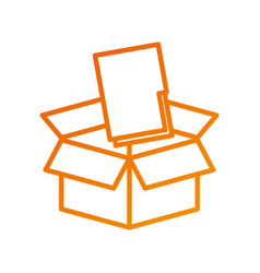 box with folder file storage secure information vector image