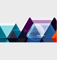 bright color hexagon geometrical composition vector image