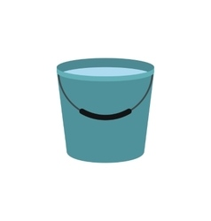 Bucket full of water icon vector