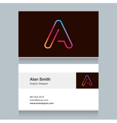 Business card letter vector