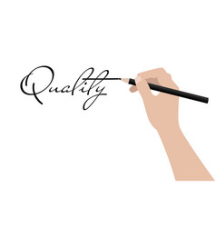 business hand writing quality vector image