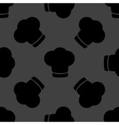 Chef cap web icon flat design Seamless gray vector image