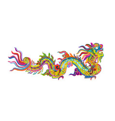 Chinese dragon for your design vector