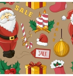 Christmas sale set pattern vector image