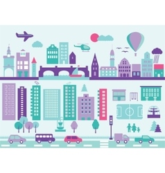City modern elements set vector