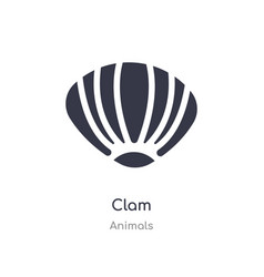 Clam icon isolated clam icon from animals vector