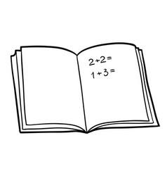 Coloring book math workbook vector