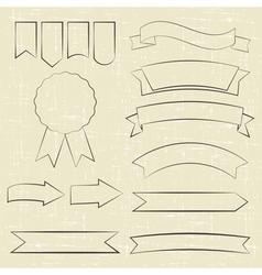Contour icons vector