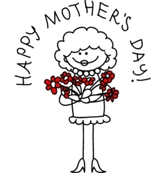 Cute Happy Mothers Day Card vector