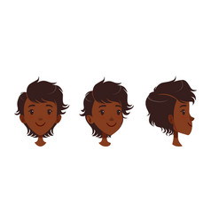 cute happy smiling african american girl set vector image