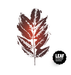 Design leaf retro stamp vector