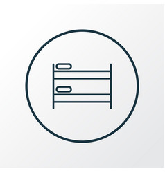 double decker bed icon line symbol premium vector image