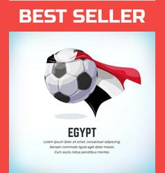 Egypt football or soccer ball football national vector