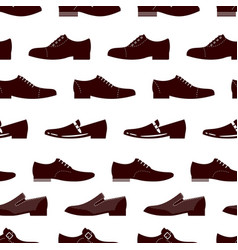 elegance footwear seamless pattern male boots vector image
