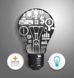 Elements are small icons Finance make light bulb vector image