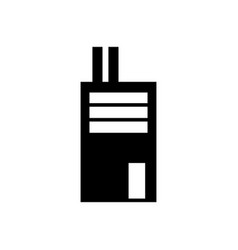factory icon solid pictogram vector image