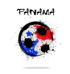 Flag of panama as an abstract soccer ball vector