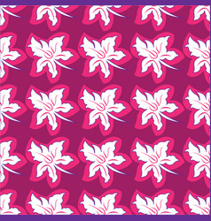 Flower seamless pattern bright pink colors vector