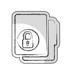 folder with padlock isolated icon vector image