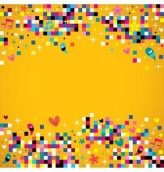 Fun pixel squares background vector