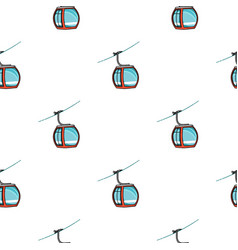funicular icon in cartoon style isolated on white vector image