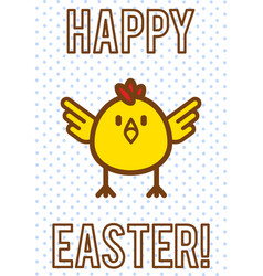 funny cartoon easter eggs vector image