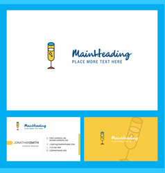 glass logo design with tagline front and back vector image
