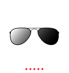 glasses it is icon vector image