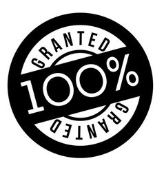 Granted stamp typographic stamp vector