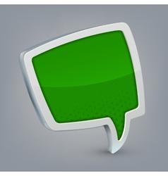 Green cloud speech vector image