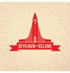 Hallgrimskirkja The symbol of Reykjavik Iceland vector