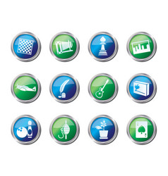 hobby leisure and holiday icons vector image