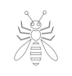 Honey bee icon outline style vector